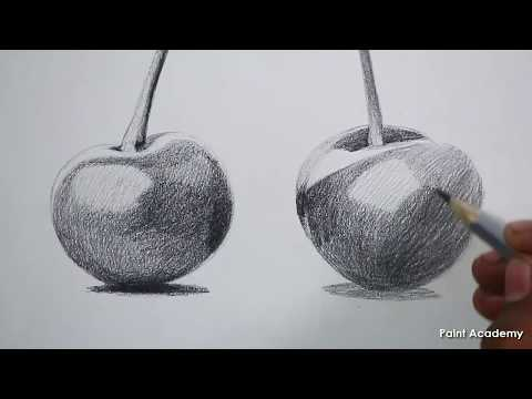 how-to-sketch-cherry-fruits-in-pencil-step-by-step