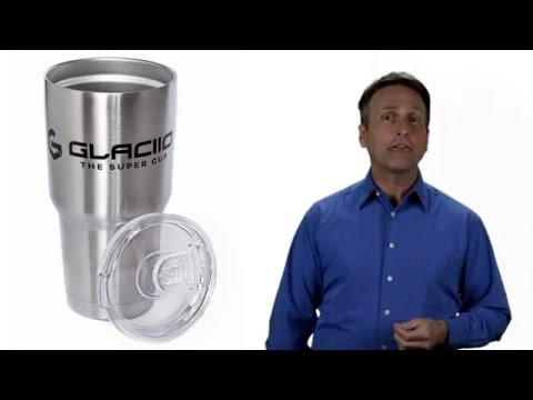 GLACIIO Insulated Cup - Double Wall Stainless Steel - Travel tumbler Coffee Mug