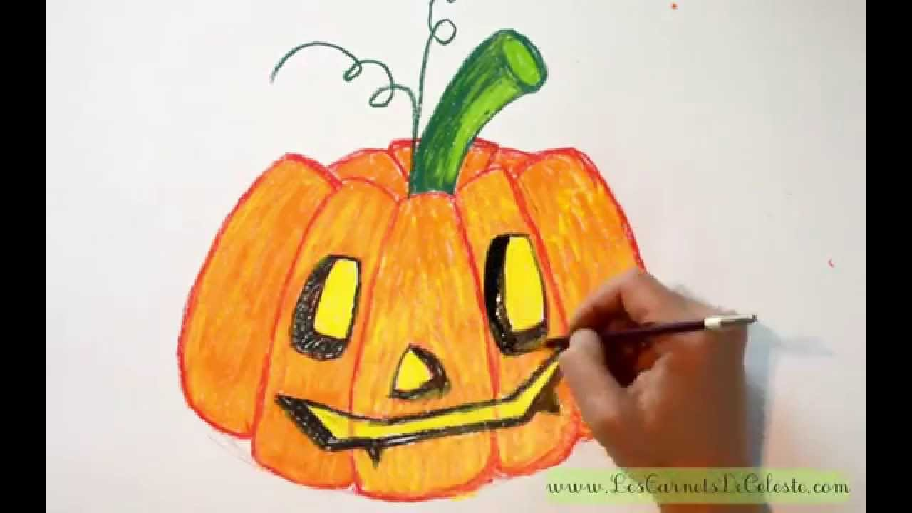 comment dessiner une citrouille pour halloween youtube. Black Bedroom Furniture Sets. Home Design Ideas