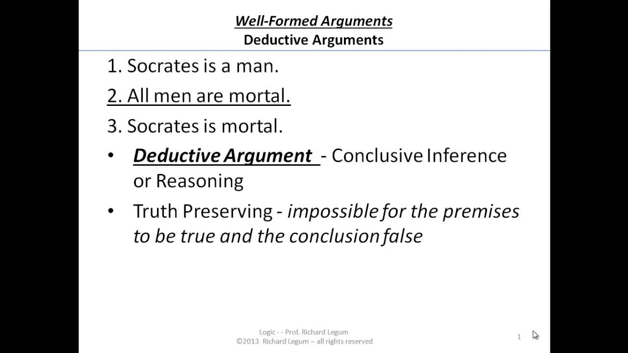philosophy deductive argument