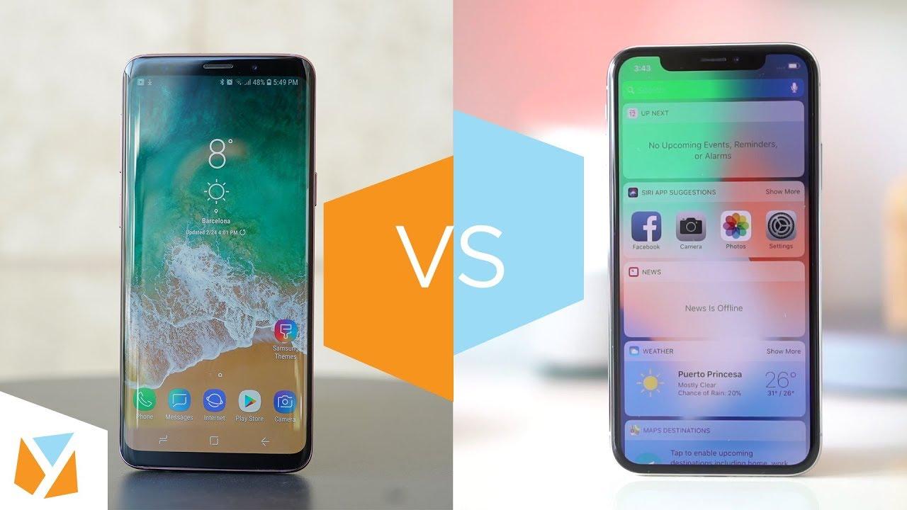iphone x galaxy s9 comparison