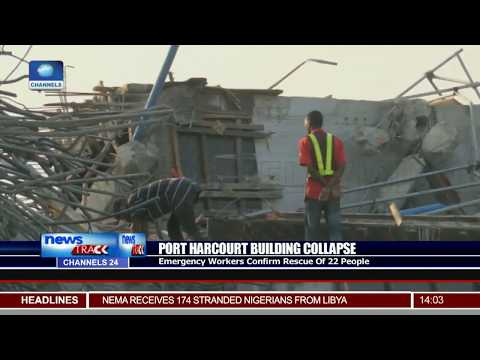 Port Harcourt Building Collapse Update:  22 People Rescued So Far