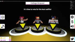 INSANE COLLEGE DROP OUT CATEGORY! Roblox Fashion Famous (#1 Fashion Famous)