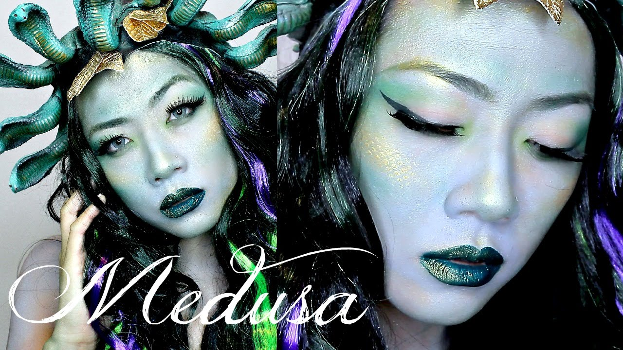 Medusa Halloween Makeup Tutorial - Last Minute Halloween Costume ...