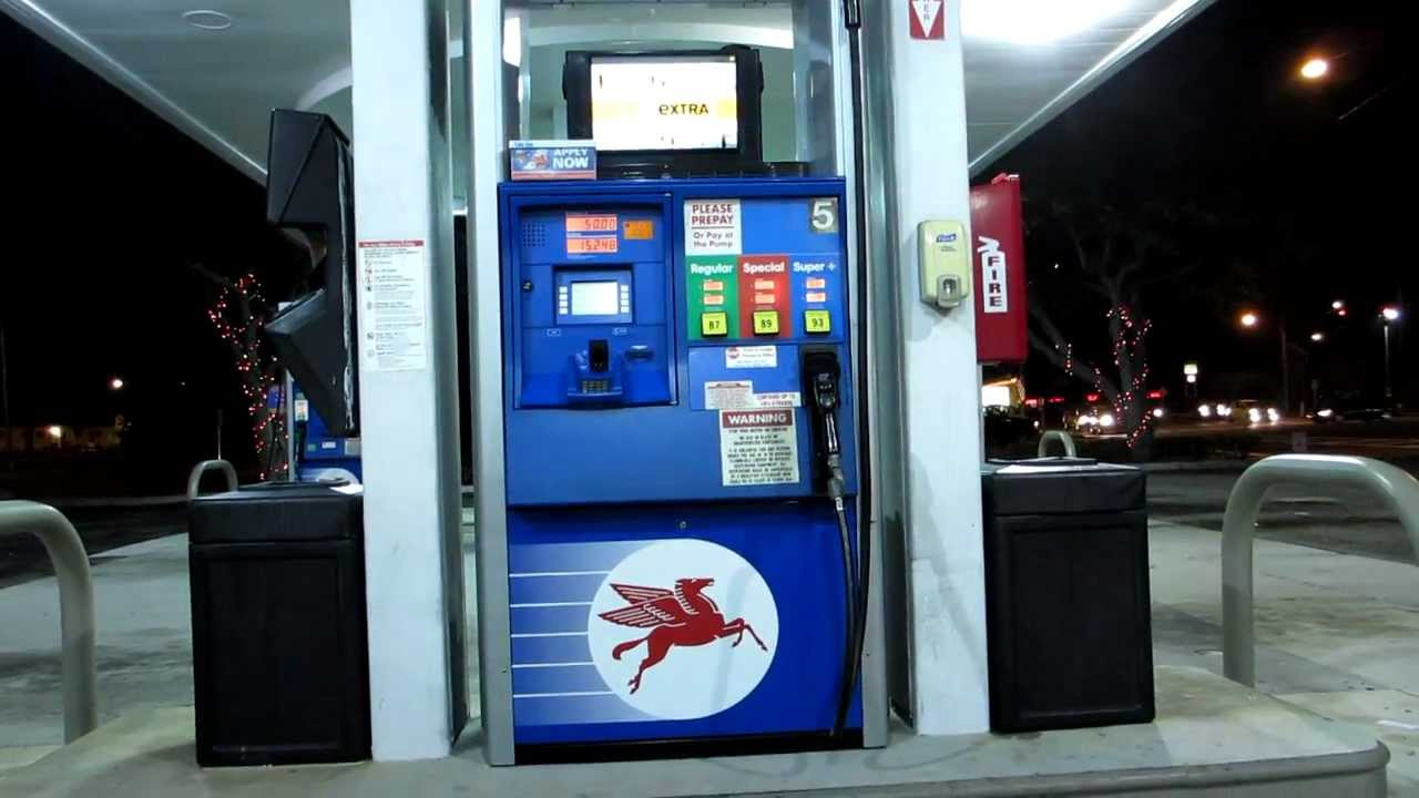Find Gas Stations >> Mobil Gas Pump With TV - YouTube