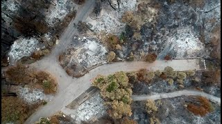 Exclusive drone views of the CZU Lightning Complex Fire Damage in Santa Cruz County
