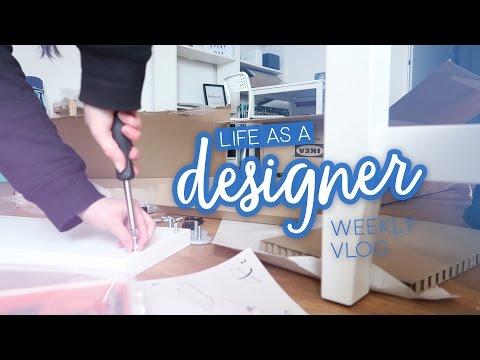 Weekly vlog: Standing desk problems  - Life as a Designer