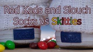 Red Keds Slouch Socks vs Skittles Crush
