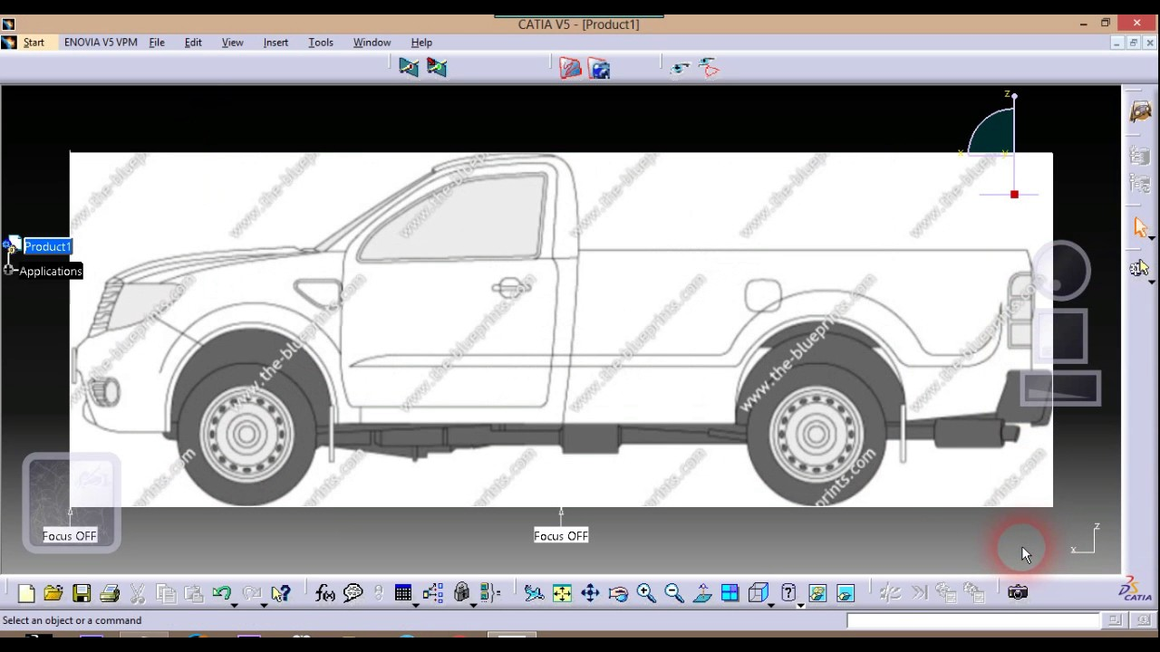 Car Design Tutorial In Catia V5 Sketch Tracing Initial Part 1