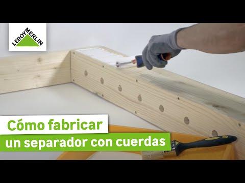 Fabricar un separador con cuerdas leroy merlin youtube - Biombos y separadores de espacios ...