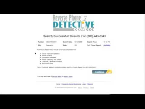 Reverse Phone Detective-Best way to find an unlisted Home/Cell phone #
