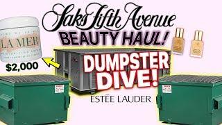 SAKS FIFTH ANENUE DUMPSTER DIVE!   BETTER THAN ULTA BEAUTY HAUL!