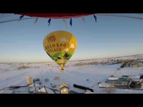 Snow Ballooning - Lancaster County - United States Hot Air Balloon Team, March 17, 2017.