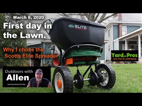 First Day In The Lawn 2020. Why I Chose The Scotts Elite Spreader
