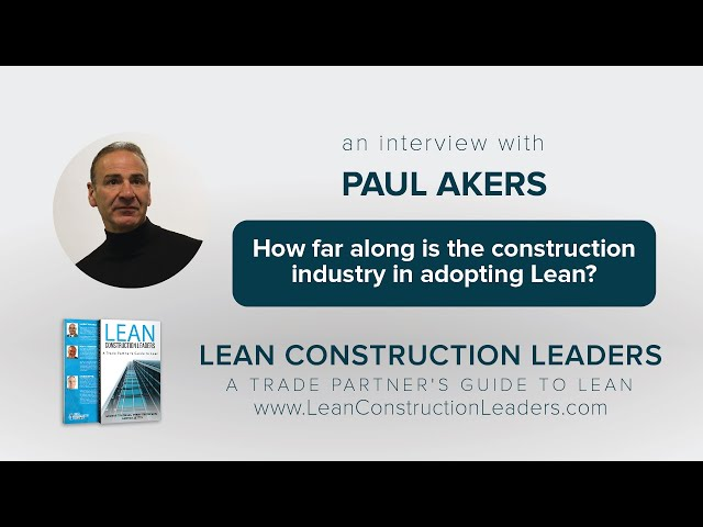 How far along is the construction industry in adopting Lean?