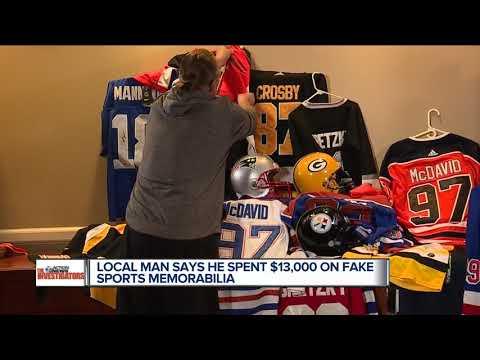 Local Man Says He Spent $13,000 On Fake Sports Memorabilia
