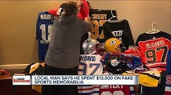 Local man says he spent $13,000 on fake sports memorabilia