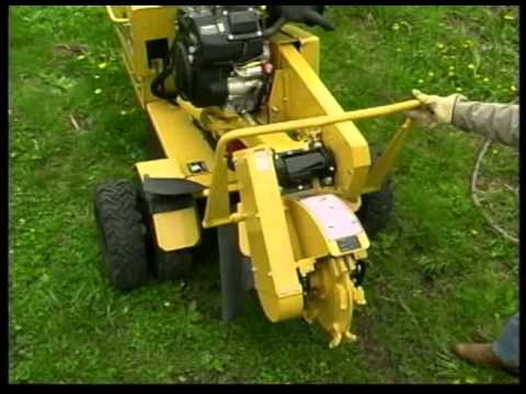 Stump Cutter Safety and Operations Video (with operator presence system) on