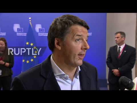 Belgium: No need for sanctions against Russia - Italy PM Renzi