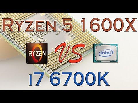RYZEN 5 1600X Vs I7 6700K - BENCHMARKS / GAMING TESTS REVIEW AND COMPARISON / Ryzen Vs Skylake