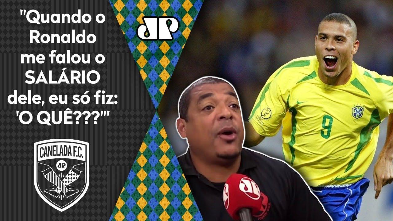 Histórias do Vampeta: o dia em que Ronaldo REVELOU quanto GANHAVA POR MÊS!