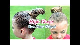 High Cheer Bun {4 ways} | Updos | Cute Girls Hairstyles