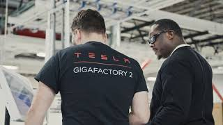 Tesla Gigafactory 2 Interior and Exterior Shots