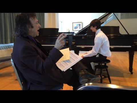 David Dubal Speaking Before Master Class - Reed Plays Rachmaninoff On Next 2 Videos  - age 14