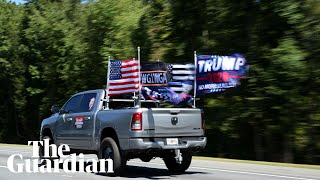 Convoys of Trump supporters take to roads after Biden campaign bus incident