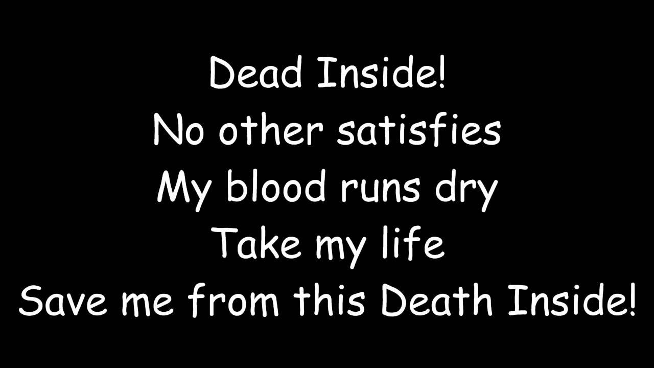 dead inside lyrics