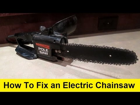How to fix an electric chainsaw youtube greentooth