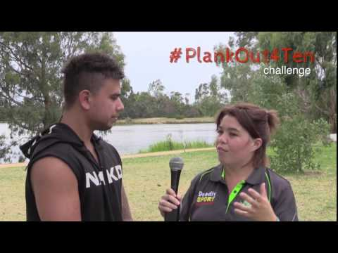Lisa and Scott yarn about the #PlankOut4Ten challenge