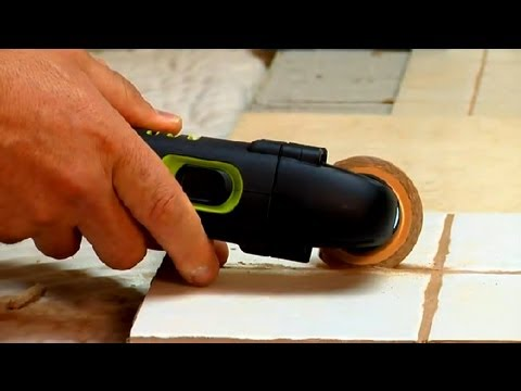 How Do I Use A Grout Removal Tool Grout Maintenance Youtube