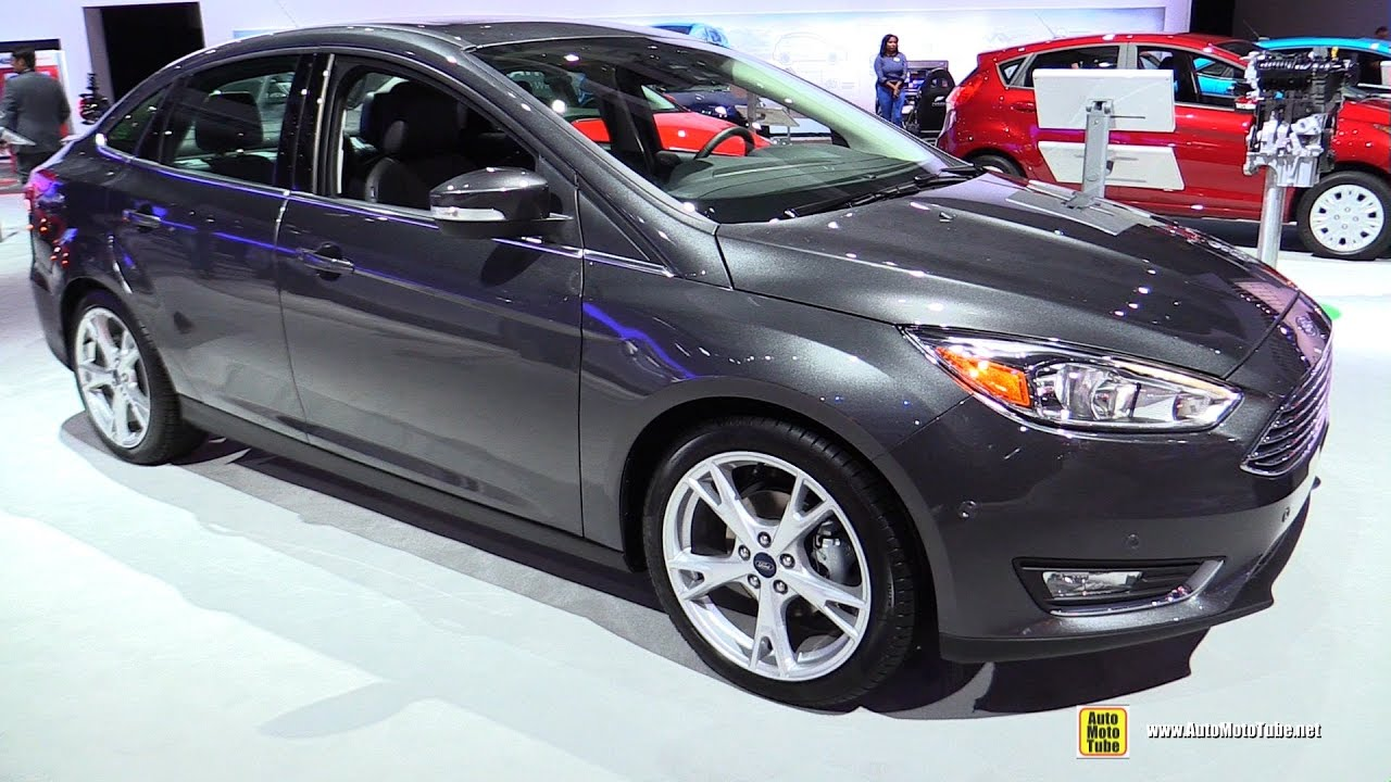 2017 ford focus sedan titanium exterior and interior walkaround 2016 la auto show youtube. Black Bedroom Furniture Sets. Home Design Ideas