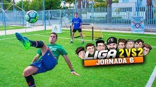 ¡ROMPEMOS LA PORTERIA! LIGA 2vs2 | JORNADA 6 | Retos de Fútbol [Crazy Crew]
