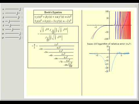 Boole Differential Equation with Continued Fractions