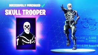 FORTNITE SKULL TROOPER SKIN is BACK! (Skull Ranger & Skull Trooper Item Shop)