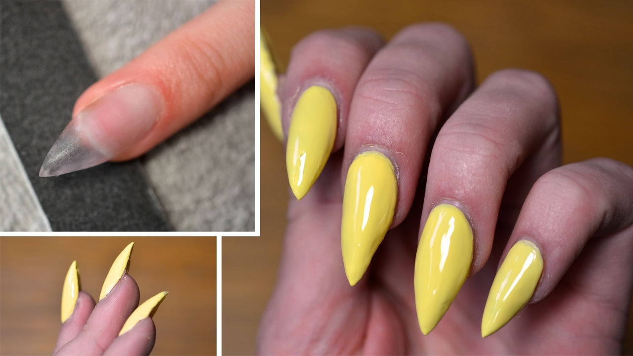 Nails: How I do acrylic stilettos (Beginner!) - YouTube