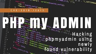 CVE-2018-12613 - phpMyAdmin - Remote Code Execution (Metasploit) Kali linux
