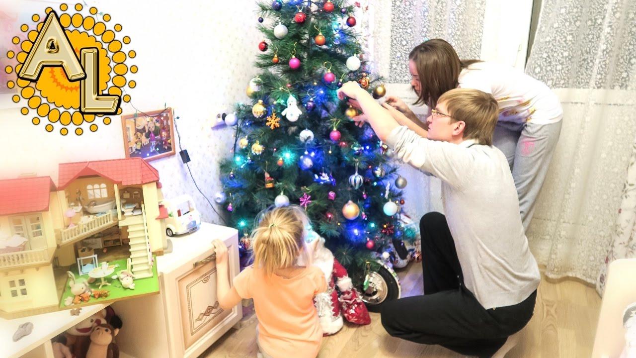Наряжаем елку / Новогодний влог / Елочные игрушки