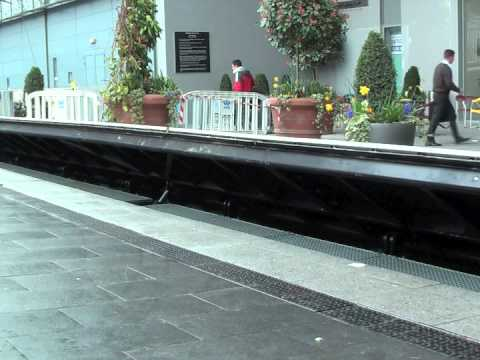 Flip-up Flood Barrier at Mardyke Arena in Cork - Flood Control International Ltd