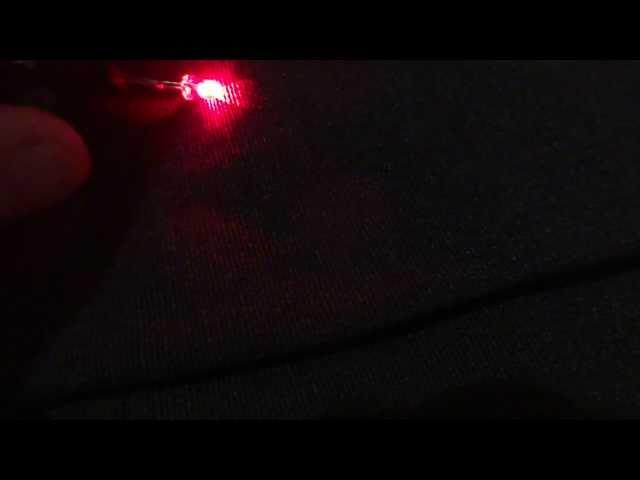 Led 3mm pisca vermelho e azul