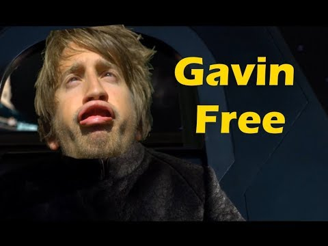 Star Wars but light saber noises are replaced with Gavin Free