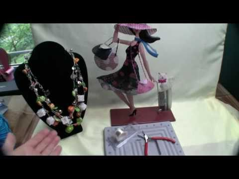 How To Crochet 3 Wire Chain Personalized Necklace Youtube