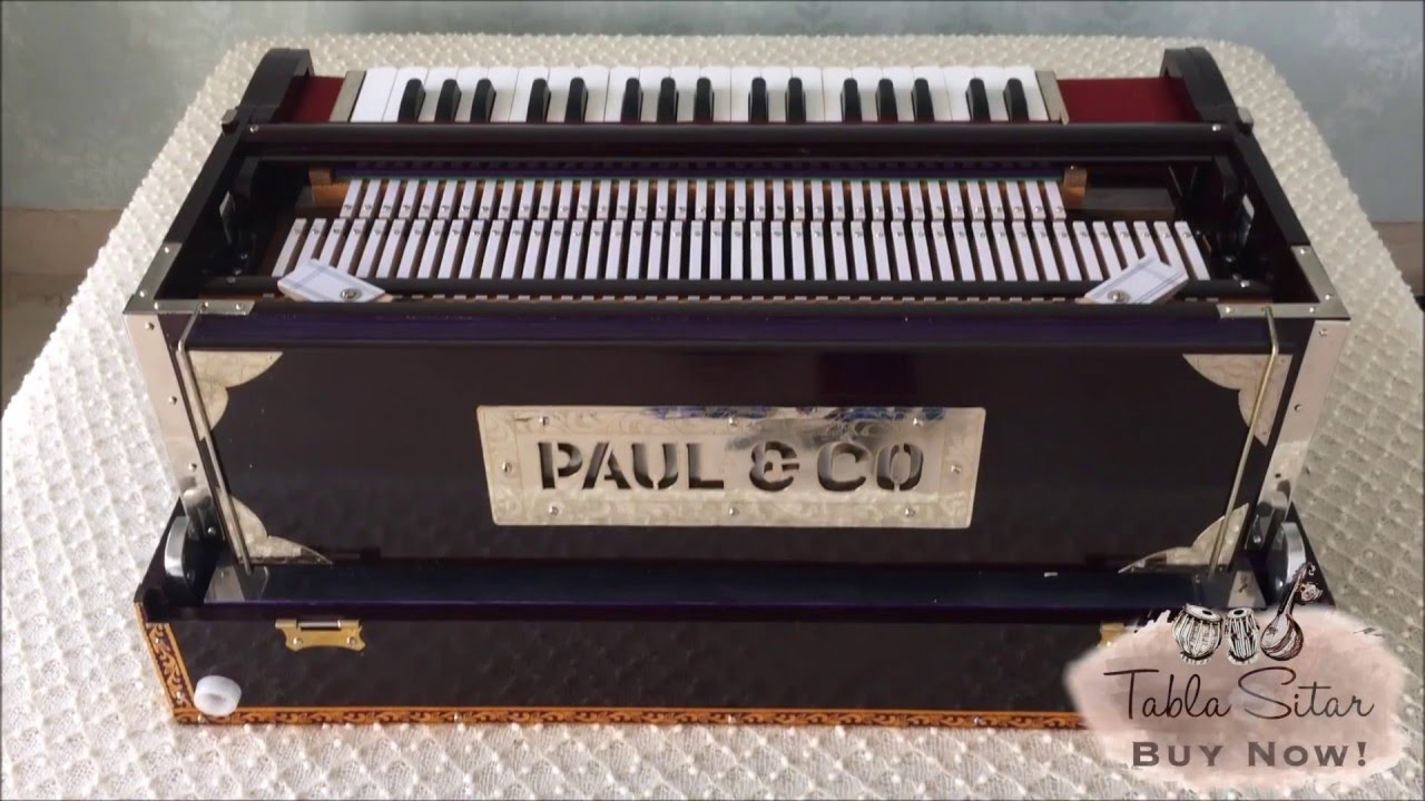 buy PAUL & CO  HARMONIUM NO  214 - 3 REEDS, 9 SCALE CHANGER - TABLA SITAR  MUSICALS