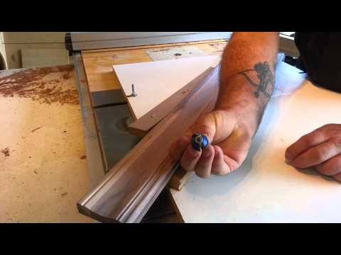 """Woodworking - homemade """"crown molding"""""""