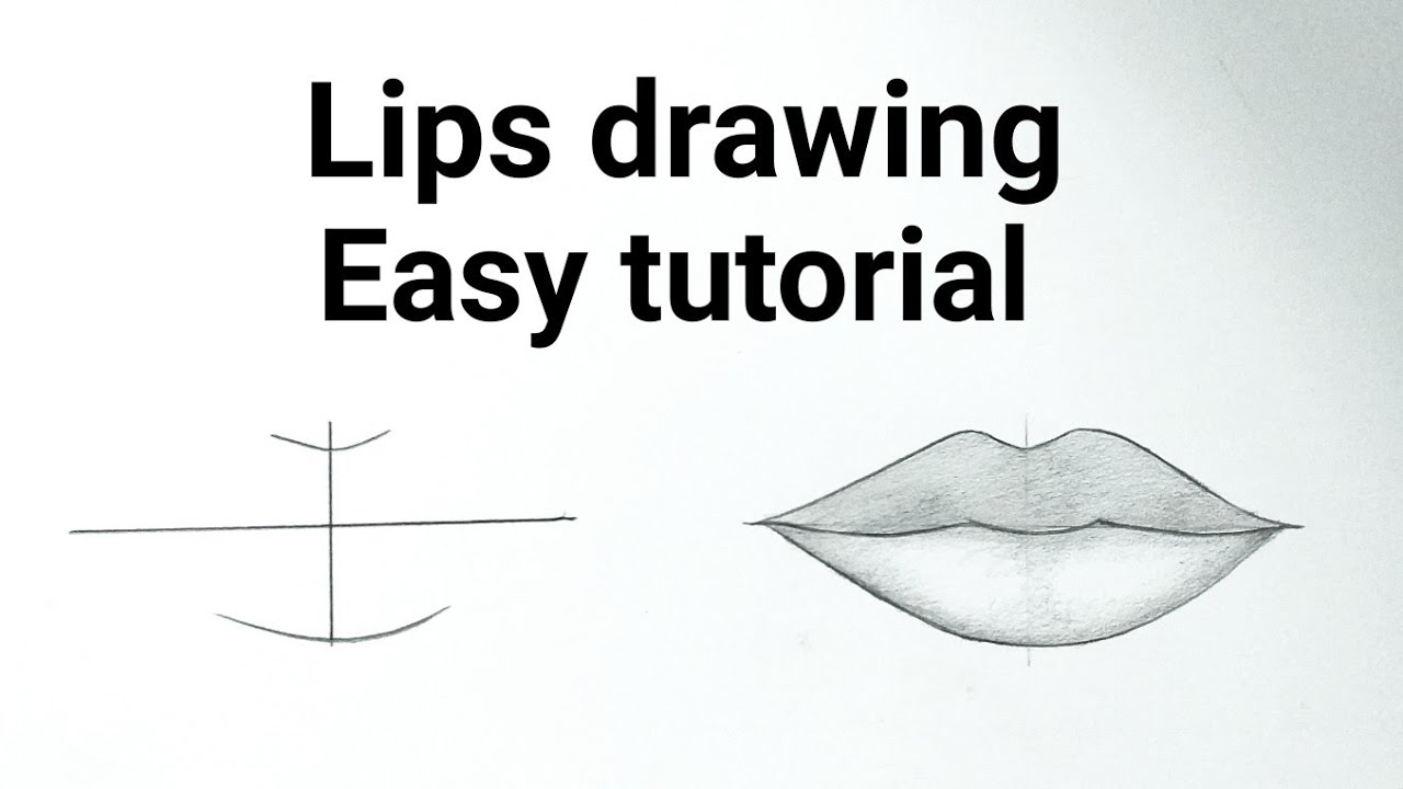 How To Draw Lips Easy Step By For