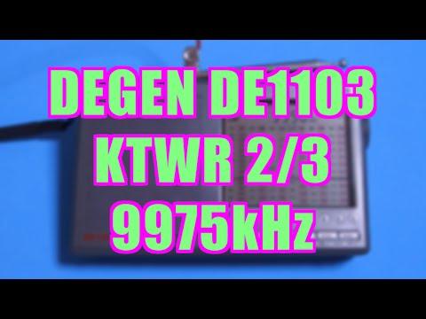 [2/3] フレンドシップラジオ(KTWR,9975kHz) DE1103(DEGEN)