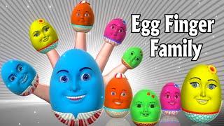 Finger Family Nursery Rhymes   Egg Finger Family song   3D Finger Family Rhymes & Kids songs