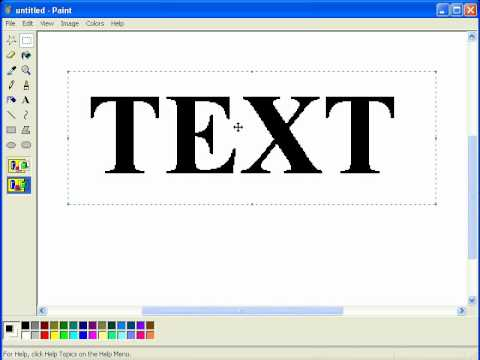 MS Paint - Stroke/Outline Tutorial